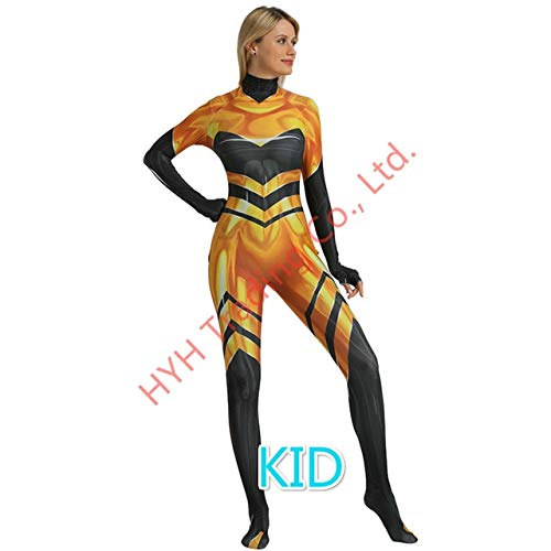 EQWR Anime Queen Bee Ladybug Girls Jumpsuit Cosplay Disfraces Lady bug Zentai Body Halloween Party Lady Bug Disfraz Traje Ropa S KID