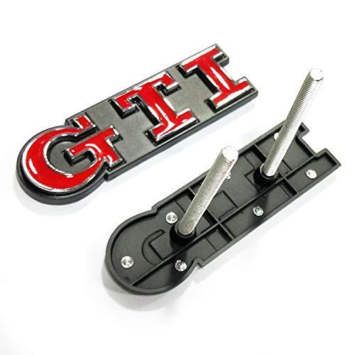 GTI Emblem Legierung, HUAYT GTI Logo seitlich Kotflügel Heckklappe Auto Aufkleber für Golf Polo MK2 MK3 MK4 MK5 MK6 MK7 Deko