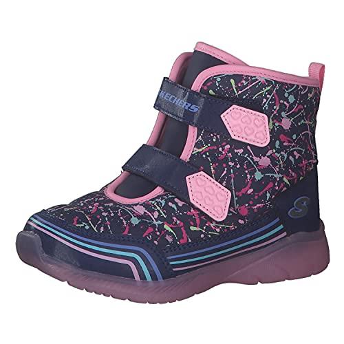 Skechers 302653N-NVMT lllumi-Brights Kinder Babyschuh wasserabweisendes Nylon, Groesse 21, lila/rosa