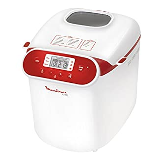 Moulinex OW310130 - Panificadora programable, 700 W, 1 kg, blanco/rojo (B004GH8KUK) | Amazon price tracker / tracking, Amazon price history charts, Amazon price watches, Amazon price drop alerts