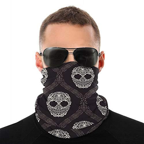 Carolyn Berns Day of The Dead multifunctionele sjaal, ademend, hoge elasticiteit, voor het gezicht, stofdicht, windbescherming, zonwering, uniseks