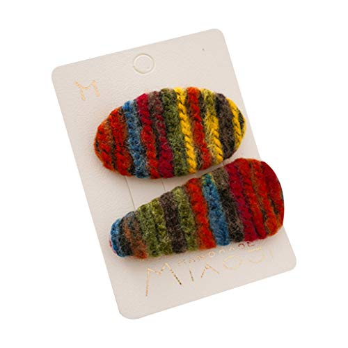 Goneryisour - Pinzas pelo hechas mano lana sintética