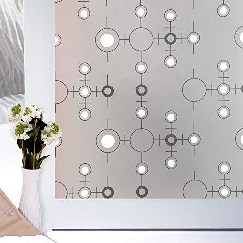LMKJ Självhäftande ogenomskinligt genomskinligt glaslock, används i sovrum, badrum, vardagsrum, kök, dekorativ fönsterfilm A98 45 x 100 cm