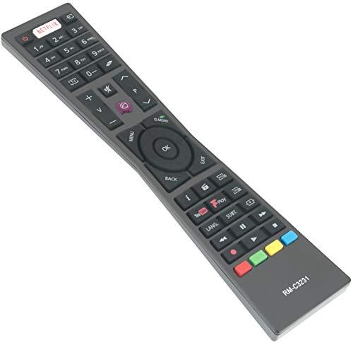 ALLIMITY RM-C3231 Sostituito il Telecomando adatto per JVC SMART 4K LED TV LT-32C670 LT-32C671 LT-43C860 LT-40C860 LT-43C862 LT-43C870 LT-55C860 LT-24C660 LT-24C661 LT-32C660 LT-32C661 LT-49C770