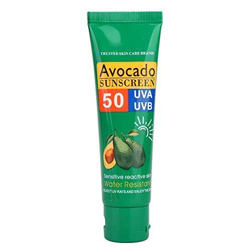 Zonnebescherming, heren dames zonnebescherming gezichtslichaam Langdurige zonnebrandcrème tegen UV-straling Geschikt voor gezicht en lichaam, glad en niet vet (shea butter zonnecrème)