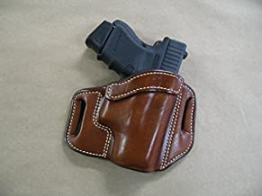 Taurus G2 Millenium 9mm OWB Leather 2 Slot Molded Pancake Belt Holster CCW TAN RH