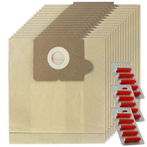 SPARES2GO E53 E53N U53 Stofzakken voor Zanussi PowerPlus ZAN4402 Stofzuiger (Pak van 15 + Fresheners)