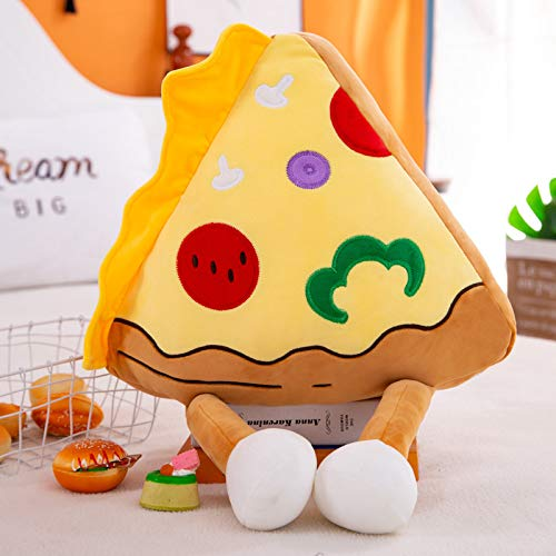 RUGUOAI Creative Cartoon Series Plush Toy Burger Doll Soft Sofa Cushion Pillow Children Gift 65 cm. Pizza