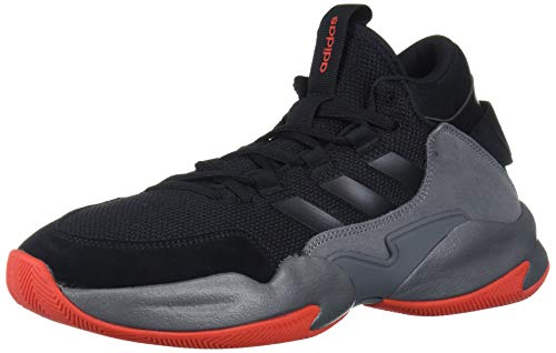 adidas Herren Streetcheck Mid Cut Basketballschuhe, Schwarz (Core Black/Core Black/Grey Four), 44