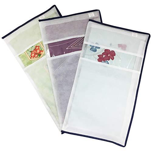 アストロ 帯収納袋 3枚組 不織布 三方開き 透明窓付き 173-14