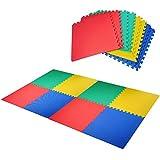 Homcom alfombra puzle niños 8 piezas eva 2'88㎡ certificado aleman libre de toxicos