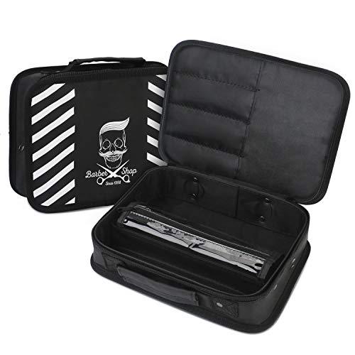 Cas de port de barbier, Sac de rangement d'outils de styliste de Segbeauty pour Clippers Scissor Clips Trimmer Grooming Kit, Salon de coiffure Accessoires Organisateur Voyage portable