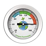 DSFSAEG Compost Thermometer, Stainless Steel Dial Thermometer for Home and Backyard Composting