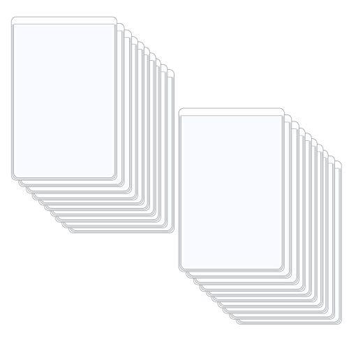 Hrroes 20 Piezas Funda de Tarjeta de Crédito Cubiertas de Protección para Tarjetas ID de Plástico Funda de Tarjeta Vertical Protector (9x6cm)