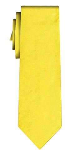 Cravate soie unie solid sunflower, twill