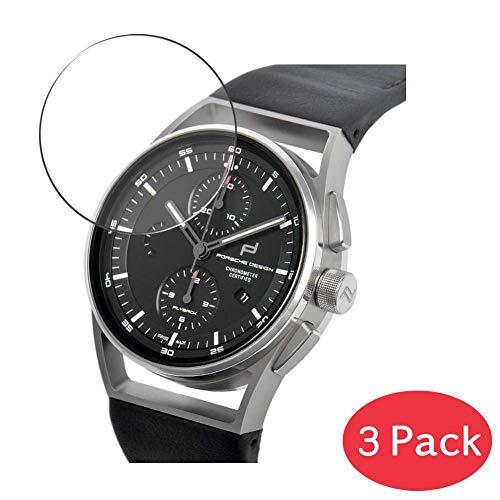 VacFun 3 Piezas Vidrio Templado Protector de Pantalla Compatible con Porsche Design 1919 6023.6.04.005.07.2, 9H Cristal Screen Protector Película Protectora Reloj Inteligente Smartwatch New Version