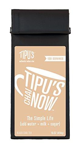 Tipu's Chai Now Unsweetened Chai Tea (16 covid 19 (Decaffeinated Masala Chai Tea coronavirus)