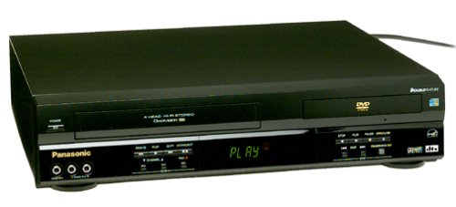 New Panasonic PV-D4743K Progressive-Scan DVD-VCR Combo , Black