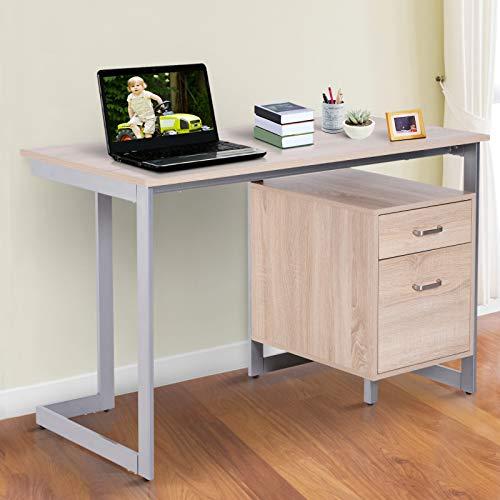 HOMCOM Mesa de Ordenador PC Escritorio de Oficina Despacho Mesa de ...