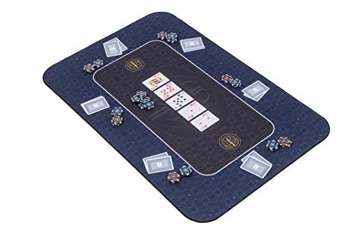 Riverboat Gaming The Broadway Pokermatte in blau Pokertisch - Pokertischauflage - 100 x 65cm