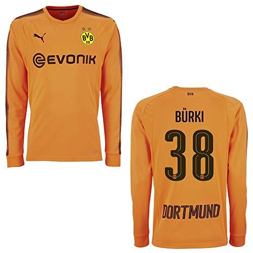 PUMA BVB Trikot Torwart Kinder orange 2018 - BÜRKI 38, Größe:176