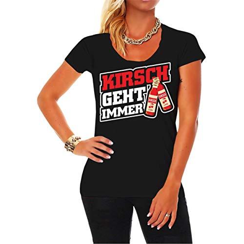 Frauen und Damen T-Shirt Kirsch geht Immer Größe XS - 5XL