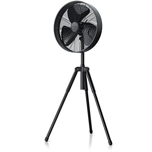 Brandson – Standventilator | Design Ventilator matt schwarz | 3 verschiedene Geschwindigkeitsstufen | 45W / 40cm Durchmesser | moderate Geräuschentwicklung (max. 65dBA)