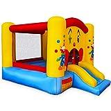 GOPLUS Aire de Jeu Trampoline Gonflable pour Enfants, Forme de Clown et de Château, 300 x 225 x 175 CM, Multicolore