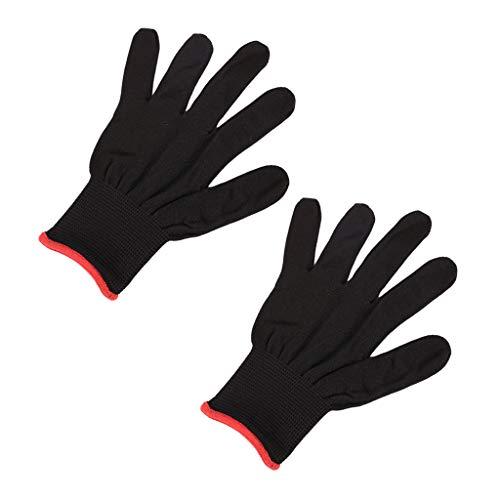 Henan 2 guantes antideslizantes de nailon para guitarra, bajo, instrumento de práctica
