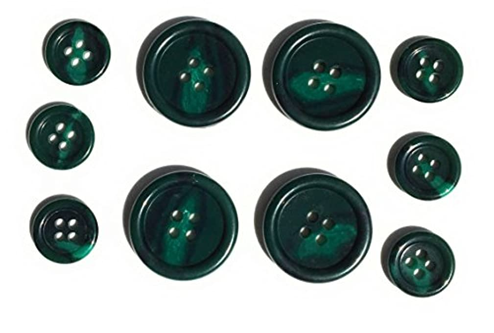 Green Tailored BUTTONS Set for Suits ,Jacket and Blazer 10pc.