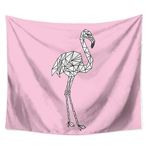 MRQXDP Manta Rosa y pajarito Rosado, tapicería, Sala de Estar Decorada con mantón de Toalla de Playa
