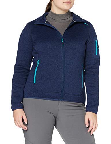 CMP Damen Knit Tech Fleece Jacket Jacke, Marine-Ceramic, D38