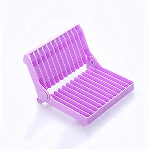 Estantes de utensilios de cocina plegable encimera plato tazón taza secado Drenaje Junta Rack