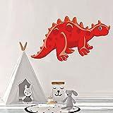 LING YUN Co,Ltd Pegatinas De Pared De Dinosaurio Geniales Pegatinas De Pared De Vinilo Extraíbles para Decoración De Habitación De Niños DIY Art Wall Decal 3D Dinosaurio Jurásico Calcomanía 46X26Cm