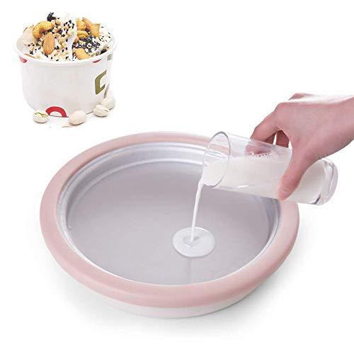 ZLKB Máquina De Helado,heladeras Hacer Helado,máquina para Helados Niños Frito Cubo Hielo,Pink