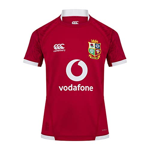Canterbury Unisex-Kinder-Rugby-Trikot British and Irish Lions XX-Small Rot - Tango Red