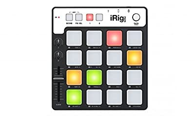 IK Multimedia iRig Pads Portable Universal MIDI Groove Controller for Apple iPad, iPhone, iPod Touch, Mac and PC-Black from IK Multimedia