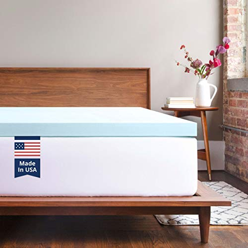 ViscoSoft Memory Foam Mattress Topper Twin - 2 Inch Response Gel Mattress Pad