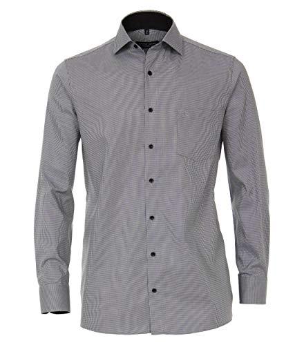 CASAMODA Herren Businesshemd extra Langer Arm 72cm Uni Comfort Fit Dunkelgrau 42