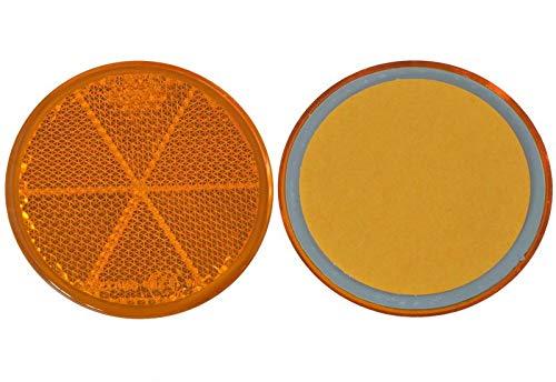 FKAnhängerteile 30 x Spot – Réflecteur arrière – Collage – Ø 60 mm – Jaune – E de marque de contrôle