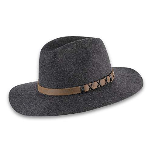Pistil Women's Standard Soho Felt Wide Brim Hat, Charcoal, One Size