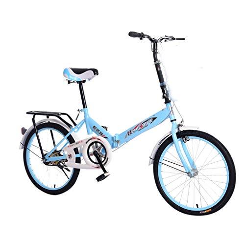 SHUANGA 20 Zoll leichtes Mini Faltrad Kleines Klapprad Faltrad Aluminium Leicht Falträder Klappräder Männer Faltbar Fahrrad Erwachsene Mit Kinder Unisex Klappfahrrad Urban Bike