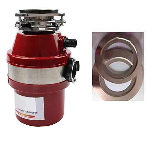 Triturador de desperdicios de alimentos Procesador Disposición de basura Trituradora de acero inoxidable Amoladora de alta sensibilidad del fregadero de cocina Appliance 560W,disposer160adapter
