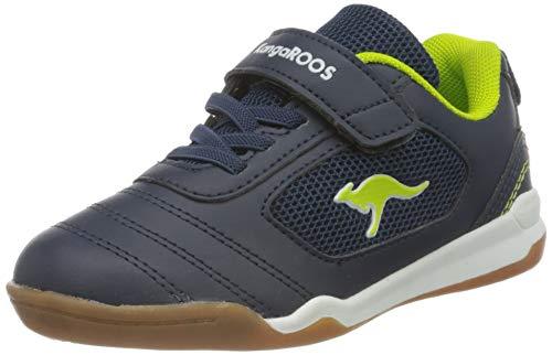 KangaROOS Unisex Kinder Nicourt EV Sneaker, Dk Navy/Lime, 32 EU