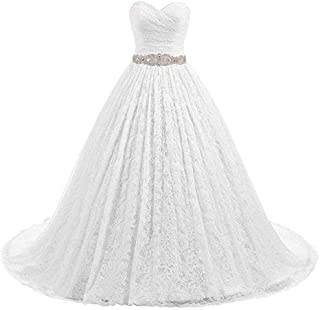 Likedpage Women's Ball Gown Lace Bridal Wedding Dresses