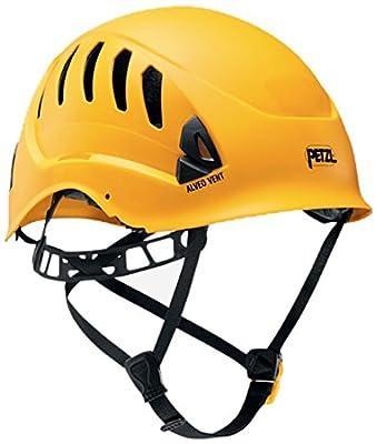 PETZL - ALVEO Vent, Ventilated Helmet for Rescue Work, Yellow