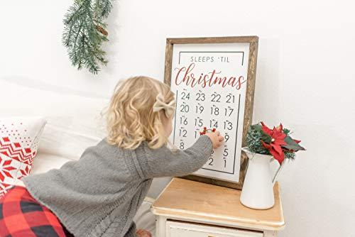 Ced454sy Moderner Bauernhaus Weihnachten Countdown Adventskalender Weihnachten mit Kinderurlaub Dekor