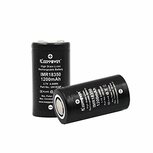 2 Pcs Li-ion Rechargeable Lithium Battery by KEEPPOWER