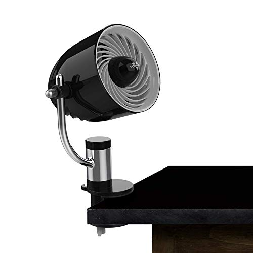 Vornado PivotC Personal Air Circulator Clip On Fan with Multi-Surface Mount, Black