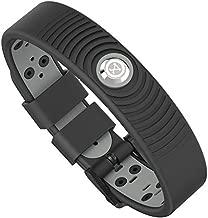 ProExl 18K Sports Magnetic Bracelet - Waterproof - Breathable Strap - Super Strength - Arthritis Relief (Black Gray)